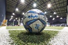 Voetbalgebied binnen van Thailand Stock Foto