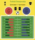 Voetbalgebied Infographics Royalty-vrije Stock Foto