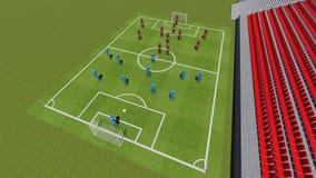 """Voetbalgebied met de spelers â """"– 2 Royalty-vrije Stock Foto"""