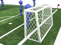 Voetbalgebied met spelers #10 Stock Afbeelding