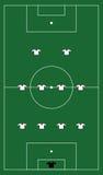 Voetbalgebied met teamvorming Royalty-vrije Stock Foto