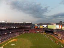 Voetbalgelijke bij Yankee Stadium Stock Fotografie