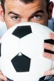Voetbalhartstocht Stock Foto