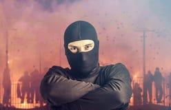 Voetbalhooligan Stock Foto's