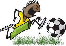 Voetbaljong geitje vector illustratie