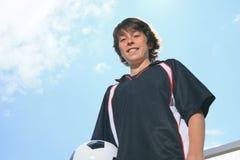 Voetbaljong geitje stock afbeelding