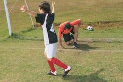 Voetbaljong geitje royalty-vrije stock afbeelding