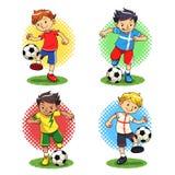 Voetbaljongens royalty-vrije illustratie