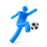 Voetballer in actie Royalty-vrije Stock Foto