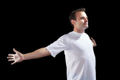 Voetballer met bal Royalty-vrije Stock Afbeeldingen