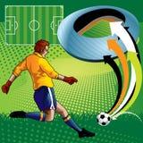 Voetballer in Stadion Royalty-vrije Stock Foto's