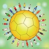 Voetballerpictogrammen Royalty-vrije Stock Foto's