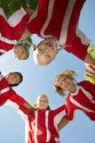 Voetballers die Wirwar vormen royalty-vrije stock foto
