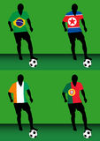 Voetballers - Groep G Stock Afbeeldingen