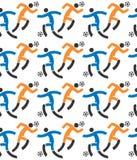 Voetballers naadloos patroon Royalty-vrije Stock Afbeeldingen