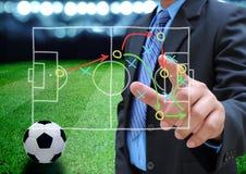 Voetbalmanager Stock Foto