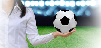 Voetbalmanager Stock Afbeeldingen