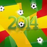 Voetbalontwerp 2014 Stock Afbeeldingen