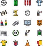 Voetbalpictogrammen vector illustratie