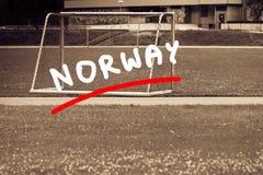 Voetbalpoort op stadion, voetbaldoel royalty-vrije stock fotografie