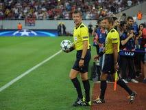 Voetbalscheidsrechter, Daniele Orsato stock fotografie