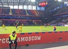 Voetbalspel CSKA-Rostov in CSKA-stadion, Moskou Stock Afbeeldingen
