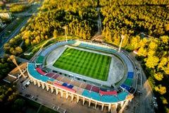Voetbalstadion in het park royalty-vrije stock afbeelding