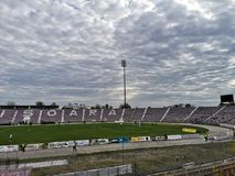 Voetbalstadion in Timisoara stock afbeeldingen