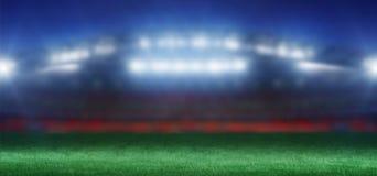 Voetbalstadion vóór het spel - het 3d teruggeven Stock Foto's