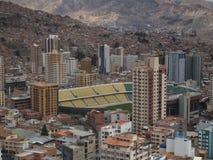 Voetbalstadion van La Paz, Bolivië stock foto