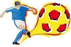 Voetbalster Royalty-vrije Stock Afbeeldingen