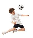 Voetbalster in actie Royalty-vrije Stock Afbeeldingen