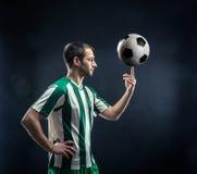 Voetbalster met een bal Royalty-vrije Stock Fotografie