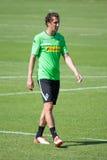 Voetbalster Roul Brouwers in kleding van Borussia Monchengladbach Royalty-vrije Stock Foto's