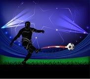 Voetbalster - schot Royalty-vrije Stock Fotografie
