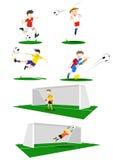 Voetbalsters stock illustratie