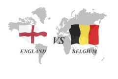 Voetbaltoernooien Rusland 2018 De Realistic Football ballen van groepsg Engeland versus België royalty-vrije illustratie