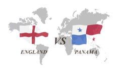 Voetbaltoernooien Rusland 2018 De Realistic Football ballen van groepsg Engeland versus Panama vector illustratie