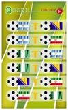 Voetbaltoernooien van de Groep F van Brazilië 2014 Stock Afbeelding