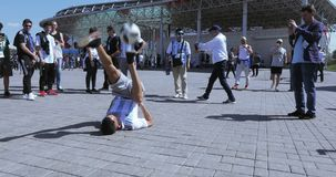 Voetbalventilators van Argentinië stock footage