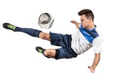 Voetbalvoetballer royalty-vrije stock fotografie