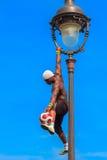 Voetbalvrij slag Iya Traore die met een Bal jongleren Royalty-vrije Stock Foto