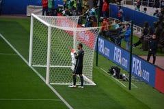 Voetbalwedstrijd tussen Portugal en Mexico in Moskou 2 Juni, 2017 Royalty-vrije Stock Afbeelding