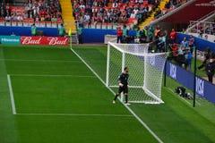 Voetbalwedstrijd tussen Portugal en Mexico in Moskou 2 Juni, 2017 Stock Fotografie