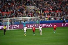 Voetbalwedstrijd tussen Portugal en Mexico in Moskou 2 Juni, 2017 Stock Afbeeldingen