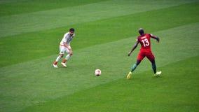 Voetbalwedstrijd tussen Portugal en Mexico in Moskou 2 Juni, 2017 Stock Foto's