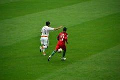 Voetbalwedstrijd tussen Portugal en Mexico in Moskou 2 Juni, 2017 Royalty-vrije Stock Afbeeldingen
