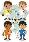 Voetbalwereldbeker C Royalty-vrije Stock Afbeeldingen