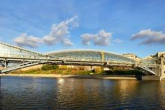 Voetbogdan khmelnitsky bridge, Moskou, Rusland Stock Foto