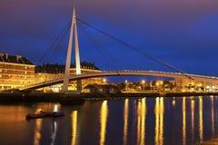 Voetbrug in Le Havre royalty-vrije stock foto